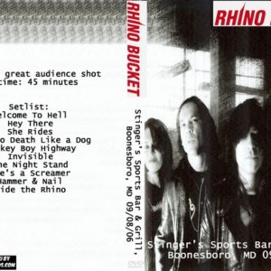 Rhino Bucket 2006-09-08 Stinger's Sports Bar & Grill, Boonesboro, MD DVD