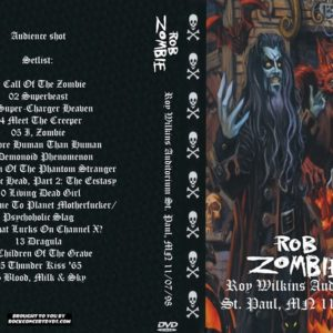 Rob Zombie 1998-11-07 Roy Wilkins Auditorium, St. Paul, MN DVD