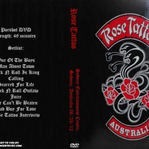 Rose Tattoo 2012-12-25 Sydney Entertainment Centre, Australia DVD