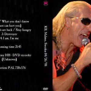 SMF 1998-04-26 KB, Malmo, Sweden DVD