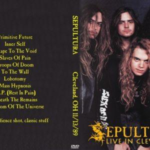 Sepultura 1989-11-13 Cleveland, OH DVD