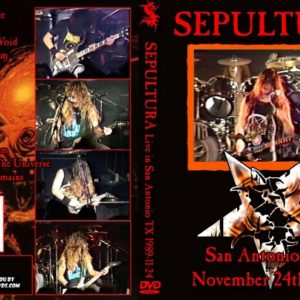 Sepultura 1989-11-24 Showcase, San Antonio, TX DVD