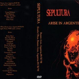Sepultura 1990-09-07 Buenos Aires, Argentina + 1994-04-30 Estadio Obras, Buenos Aires, Argentina DVD