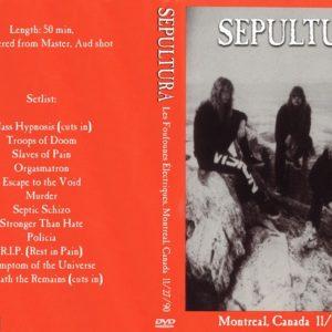 Sepultura 1990-11-27 Les Foufounes Électriques, Montreal, Canada DVD
