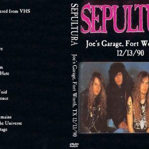 Sepultura 1990-12-13 Joe's Garage, Fort Worth, TX DVD