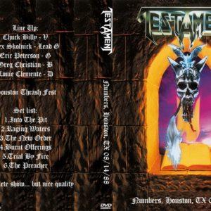 Testament 1988-08-14 Numbers, Houston, TX DVD