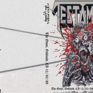 Testament 1988-12-30 The Omni, Oakland, CA DVD