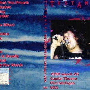 Testament 1990-03-26 Capital Theatre, Flint, MI DVD