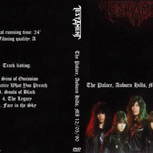 Testament 1990-12-05 The Palace, Auburn Hills, MI DVD