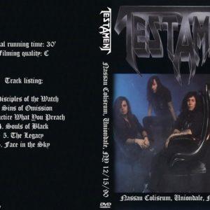 Testament 1990-12-15 Nassau Coliseum, Uniondale, NY DVD