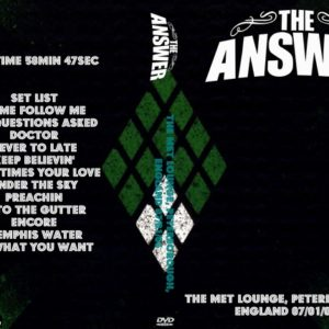The Answer 2006-07-01 The Met Lounge, Peterborough, England DVD
