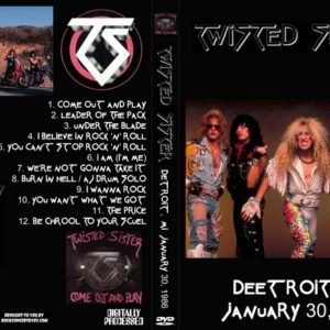 Twisted Sister 1986-01-30 Fox Theater, Detroit, MI DVD