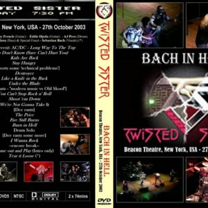 Twisted Sister 2003-10-27 Beacon Theater, New York, NY DVD
