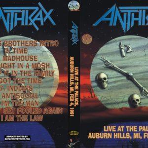Anthrax 1991-02-04 Auburn Hills MI DVD