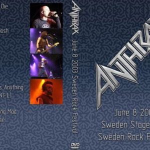 Anthrax 2003-06-08 Sweden Rock Festival DVD