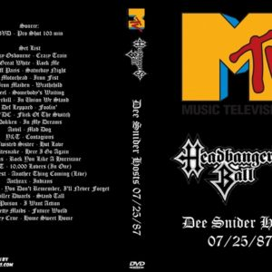 MTV Headbangers Ball 1987-07-25 Dee Snider Hosts DVD
