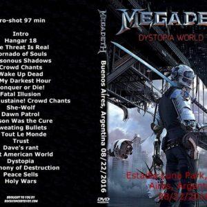 Megadeth_2016-08-22 Estadio Luna Park, Buenos Aires, Argentina DVD