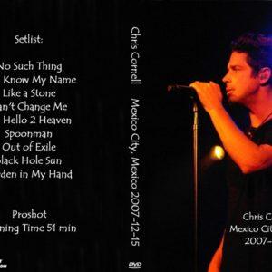 Chris Cornell 2007-12-15 Mexico City, Mexico DVD