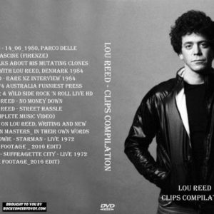 Lou Reed - Clips Compilation DVD