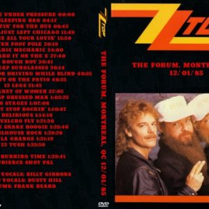 ZZ Top 1985-12-01 The Forum, Montreal, QC DVD