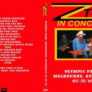 ZZ Top 1987-02-25 Olympic Park, Melbourne, Australia DVD