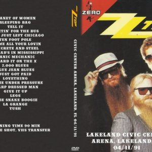 ZZ Top 1991-04-11 Lakeland Civic Center Arena, Lakeland, FL DVD