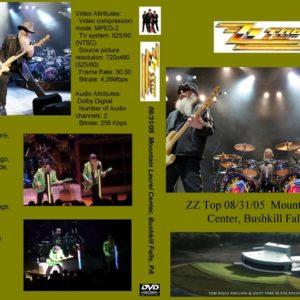 ZZ Top 2005-08-31 Mountain Laurel Center, Bushkill Falls, PA DVD