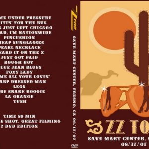 ZZ Top 2007-08-17 Save Mart Center, Fresno, CA 2 DVD