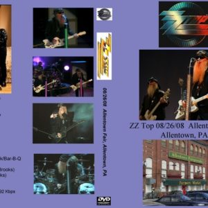 ZZ Top 2008-08-26 Allentown Fair, Allentown, PA DVD