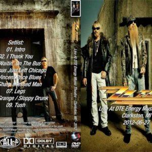 ZZ Top 2012-06-27 DTE Energy Music Theatre, Clarkston, MI DVD