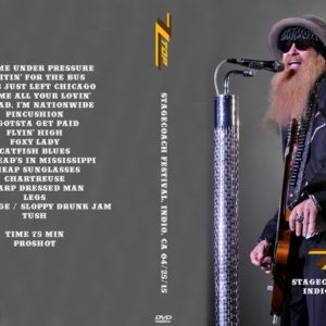 ZZ Top 2015-04-25 Stagecoach Festival, Indio, CA DVD