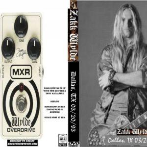 Zakk Wylde 1993-03-20 Dallas, TX DVD