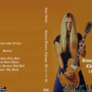 Zakk Wylde 1996-11-17 Riviera Theatre, Chicago, IL DVD