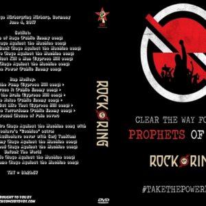 Prophets of Rage 2017-06-04 Rock Am Ring Volcano Stage Nürburgring Nürburg, Germany DVD