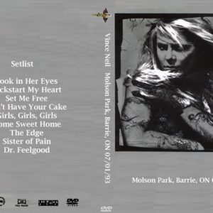 Vince Neil 1993-07-01 Molson Park, Barrie, ON DVD