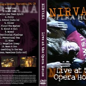 Nirvana 1991-09-20 Opera House, Toronto, Canada DVD