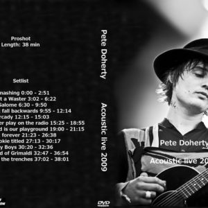 Pete Doherty 2009 Acoustic Live DVD