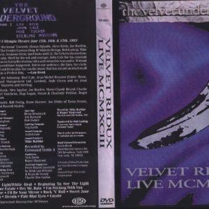 Velvet Underground Velvet Redux MCMXCIII DVD