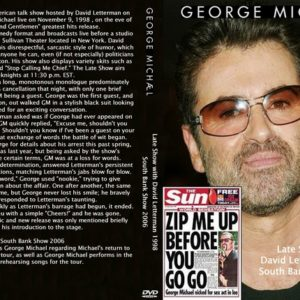 George Michael 1998-11-09 Late Show with David Letterman + 2006 South Bank Show DVD