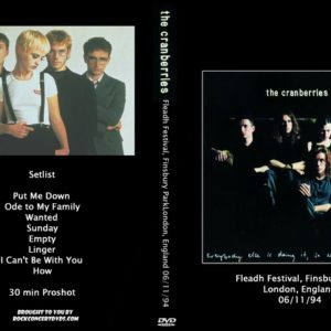 The Cranberries 1994-06-11 Fleadh Festival, Finsbury Park, London, England DVD