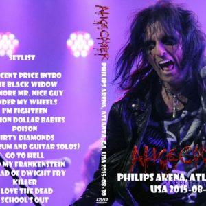 Alice Cooper 2015-08-30 Philips Arena, Atlanta, GA DVD