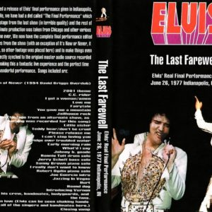 Elvis Presley 1977-06-26 The Last Farewell, Indianapolis, IN DVD
