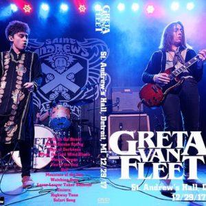 Greta Van Fleet 2017-12-29 St. Andrew's Hall, Detroit, MI DVD