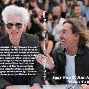 Iggy Pop & Jim Jarmusch Times Talks DVD