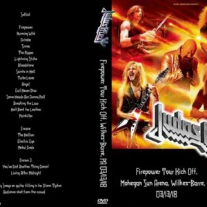 Judas Priest 2018-03-13 Firepower Tour Kick Off, Mohegan Sun Arena, Wilkes-Barre, PA DVD