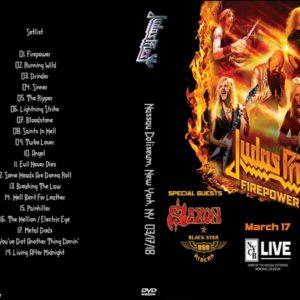 Judas Priest 2018-03-17 Nassau Coliseum, New York, NY DVD