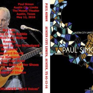 Paul Simon 2016-05-12 Austin City Limits, Austin, TX DVD