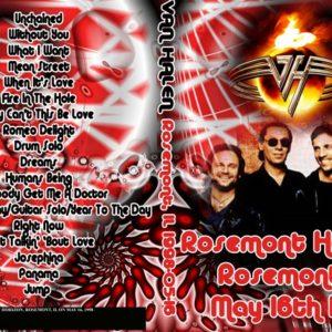 Van Halen 1998-05-16 Rosemont, IL DVD