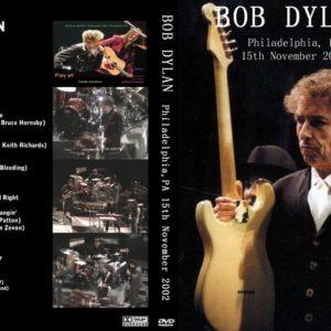 Bob Dylan 2002-11-15 Philly, PA DVD
