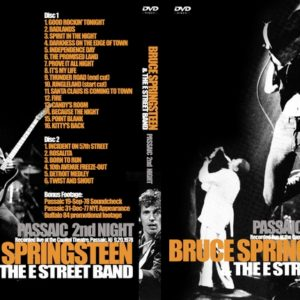 Bruce Springsteen 1978-09-20 2nd Night at the Passaic, NJ 2 DVD